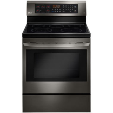 jcpenney.com | LG Black Stainless Steel Series 6.3 cu. ft. Freestanding Electric Oven Range with True Convection and EasyClean®