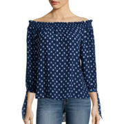 a.n.a® Long-Sleeve Off-the-Shoulder Blouse - Tall