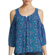 Arizona Cold Shoulder Woven Top