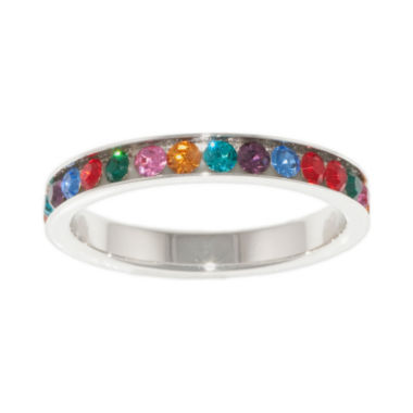 jcpenney.com | Silver-Plated Multi Crystal Eternity Ring