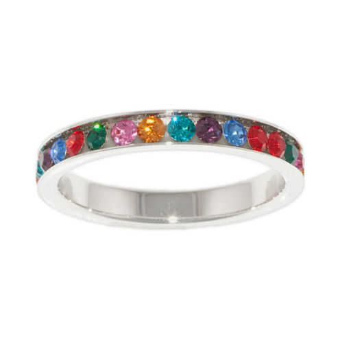 Sparkle Allure Womens Multi Color Cluster Ring