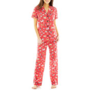 Insomniax® Short Sleeve and Pants Cotton Pajama Set