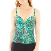 Maidenform Custom Lift Tie-Dyed Batik Print Tankini Swim Top