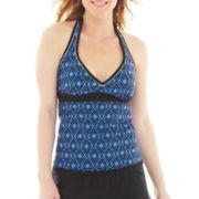 Beach Native® Diamond Print Halterkini Swim Top