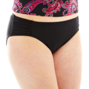 Beach Native® Shirred-Side Hipster Swim Bottoms