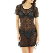 Wearabouts Crochet Side-Shirred Cover-Up Tunic