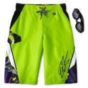 Zero Xposur® Spiral Floral Board Shorts - Boys 6-18