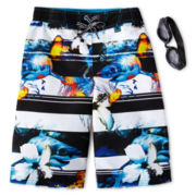 Zero Xposur® Aquarium Board Shorts - Boys 6-18