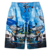 Zero Xposur® Shark Cove Board Shorts - Boys 6-18