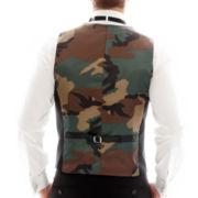 JF J. Ferrar® Back-Printed Slim-Fit Camo Vest