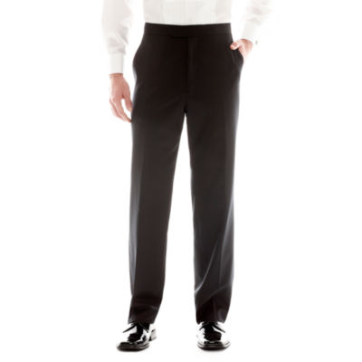 Stafford® Flat Front Tuxedo Pants by Stafford