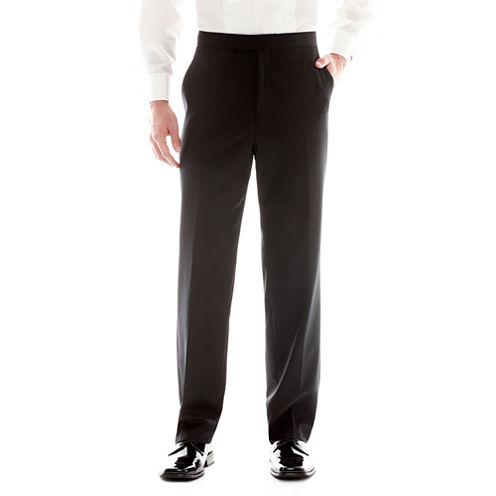 Stafford® Flat-Front Tuxedo Pants