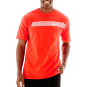 Nike® Swoosh Striped Tee