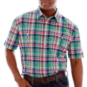 The Foundry Supply Co.™ Short-Sleeve Plaid Shirt–Big & Tall