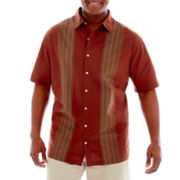 Van Heusen® Short-Sleeve Faux-Linen Shirt–Big & Tall