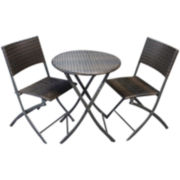 3-pc. Outdoor Wicker Bistro Set