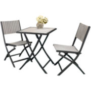3-pc. Outdoor Folding Bistro Set