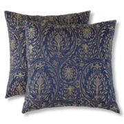 Scroll Damask Faux Silk 2-pk. Decorative Pillows
