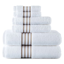 Royal Velvet® Egyptian Cotton 6-pc. Striped Dobby Towel Set