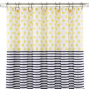 JCPenney Home™ Dots & Stripes Shower Curtain