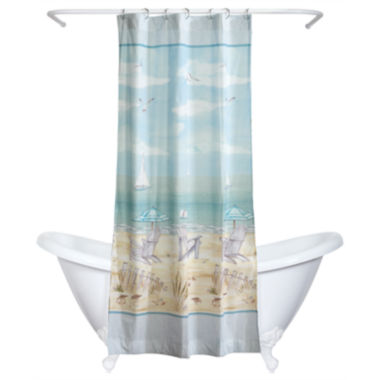 jcpenney.com | India Ink Seaside Serenity Shower Curtain