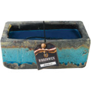 RibbonWick® Rectangular Teal Stone Greenhouse Candle