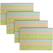 Spring Hop Set of 4 Jacquard Placemats