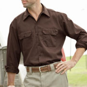 Dickies® Long-Sleeve Twill Workwear Shirt
