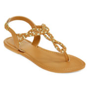 Mixit™ Braided T-Strap Sandals