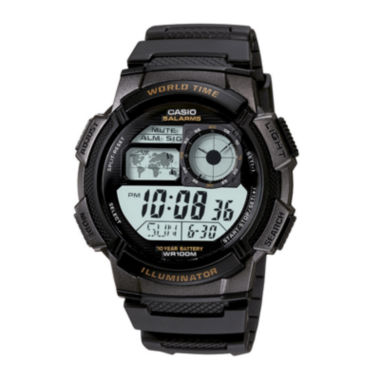 jcpenney.com | Casio® Illuminator Mens Black Bezel Digital Sport Watch AE1000W-1AV