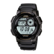 Casio® Illuminator Mens Black Bezel Digital Sport Watch AE1000W-1AV