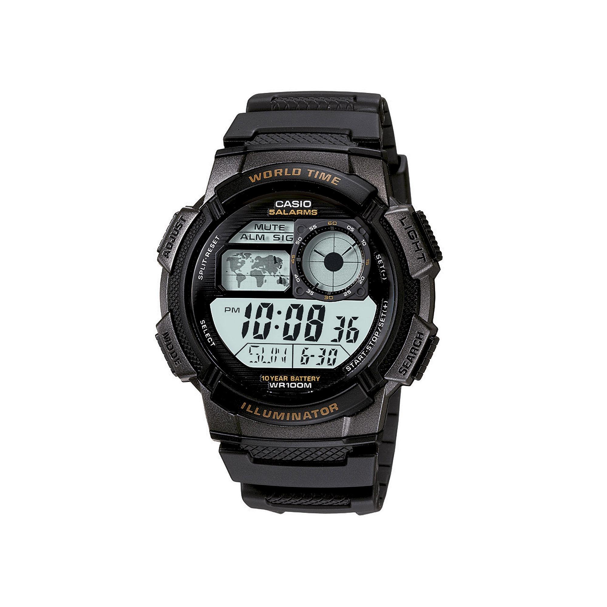 Casio Illuminator Mens Black Bezel Digital Sport Watch AE1000W-1AV