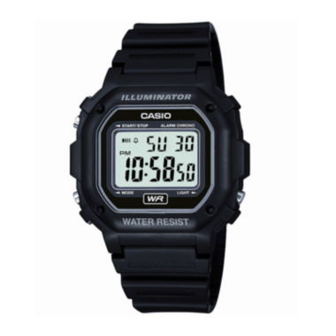 jcpenney.com | Casio® Mens Black Resin Strap Square Digital Sport Watch F108WH-1AOS