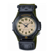 Casio® Forester Mens Green Nylon Strap Sport Watch FT500WB-3BV