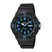 Casio® Mens Black Resin Strap Diver Sport Watch MRW200H-2BV