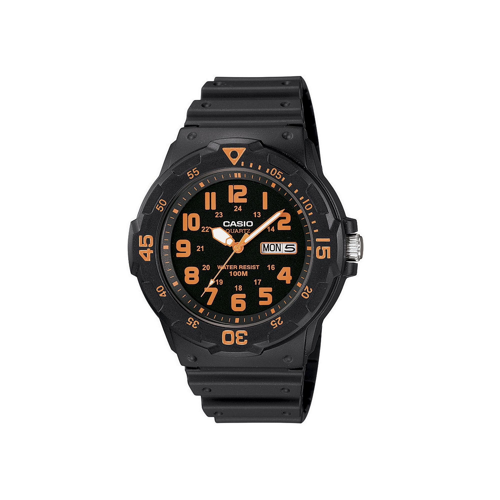 Casio Mens Black Resin Strap Diver Sport Watch MRW200H-4BV