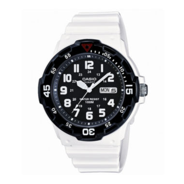 jcpenney.com | Casio® Mens White Resin Strap Diver Sport Watch MRW200HC7BOS