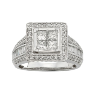 jcpenney.com | 1½ CT. T.W. Diamond 10K White Gold Multi-Top Bridal Ring