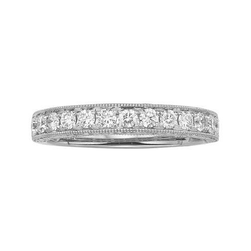 1/2 CT. T.W. Certified Diamond 14K White Gold Wedding Band