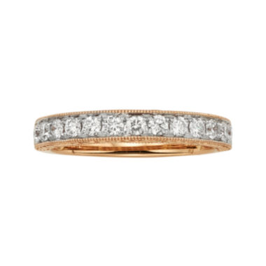 jcpenney.com | 1/2 CT. T.W. Certified Diamond 14K Rose Gold Wedding Band