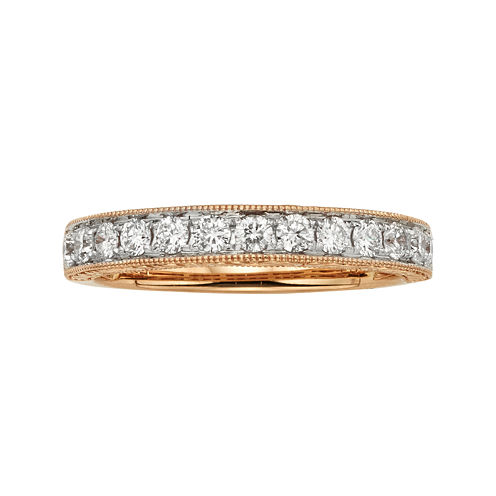 1/2 CT. T.W. Certified Diamond 14K Rose Gold Wedding Band
