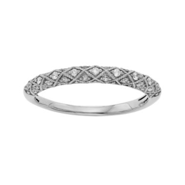 jcpenney.com | 1/6 CT. T.W. Certified Diamond 14K White Gold Wedding Band