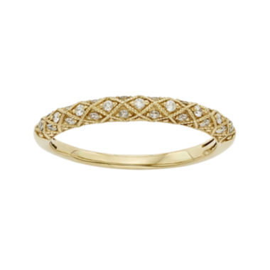 jcpenney.com | 1/6 CT. T.W. Certified Diamond 14K Yellow Gold Wedding Band