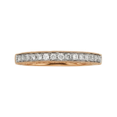 jcpenney.com | 1/4 CT. T.W. Certified Diamond 14K Rose Gold Wedding Band