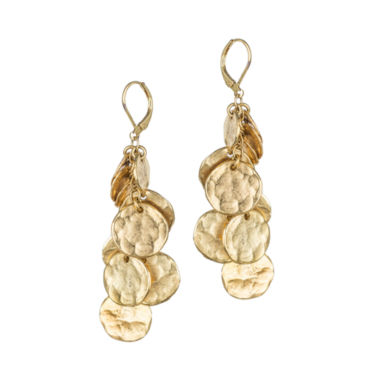 jcpenney.com | KJL by KENNETH JAY LANE Gold-Tone Coin Drop Earrings