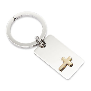 jcpenney.com | Personalized Key Ring with Gold-Tone Cross