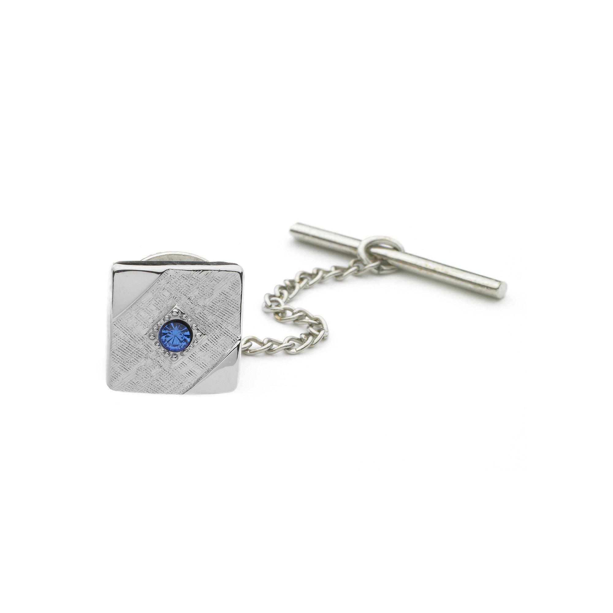 Crystal-Accent Tie Tack