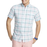 IZOD® Short-Sleeve Seaside Plaid Woven Shirt