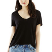 Joe Fresh™ Short-Sleeve Boyfriend Solid T-Shirt