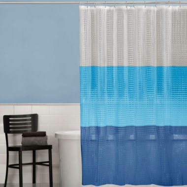 jcpenney.com | Maytex 3D Colorblock PEVA Shower Curtain
